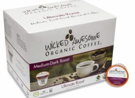 K0002485 10 oz Wicked Awesome Organic Ultimate Ground Gourmet Coffee - Pack of 2