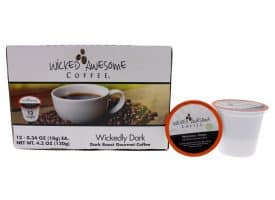 I0096736 Awesome Wickedly Dark Coffee, Single Serve Cups - 12 Cups