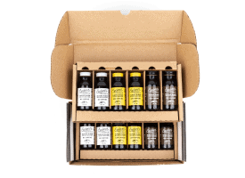 Build a Box / 12 2oz Bottles / Makes 12-16 Cups - Everything Except Extra Caf (4 No Caf / 4 Low Caf / 4 Reg Caf)