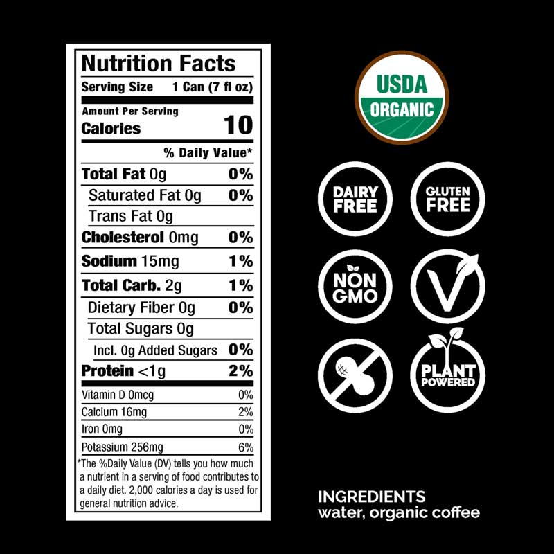 Rise Cold Brew Nutritional Information