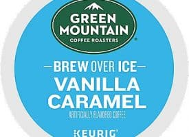 12 Ct Green Mountain Coffee Brew Over Ice Vanilla Caramel Coffee K-Cup® Pods. Coffee