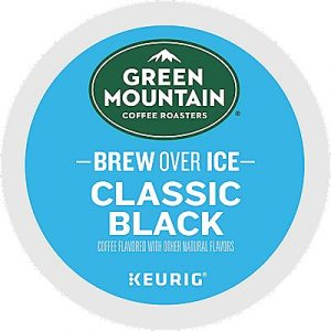 12 Ct Green Mountain Coffee Brew Over Ice Classic Black Coffee K-Cup® Pods. Coffee