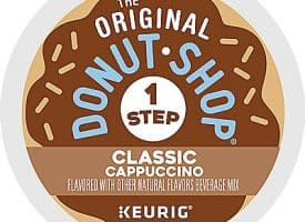 10 Ct The Original Donut Shop Classic Cappuccino K-Cup® Pods. Coffee