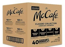 40 Ct Mccafé Classic Collection Variety Pack K-Cup® Pods. Coffee