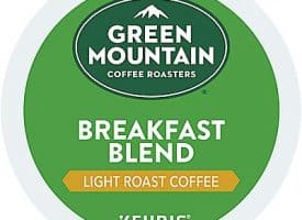 12 Ct Green Mountain Coffee Breakfast Blend Coffee K-Cup® Pods. Coffee