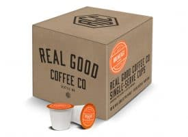 Real Good Coffee Company Light Roast K Cup Compatible Pods