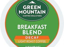 12 Ct Green Mountain Coffee Breakfast Blend Decaf Coffee K-Cup® Pods. Coffee